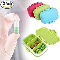 WESEEDOO 3-Fach-tägliche Pille Box Vitamin Organizer Box Reise Pill Box Organizer (Packung mit 3) preisvergleich bei billige-tabletten.eu
