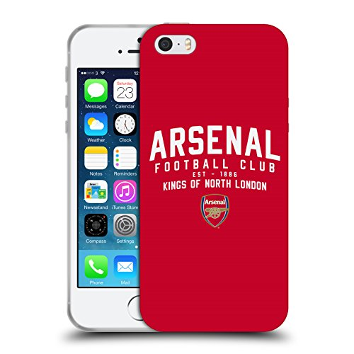fizielle Arsenal FC Kings of North London 2018/19 Typografie Soft Gel Huelle kompatibel mit iPhone 5 iPhone 5s iPhone SE ()
