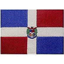 Bandera de la República Dominicana Caribe Emblema nacional Parche Bordado de Aplicación ...