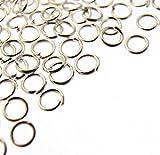 Bead Fanatic 200 Silver Plated Jump Rings - 4mm