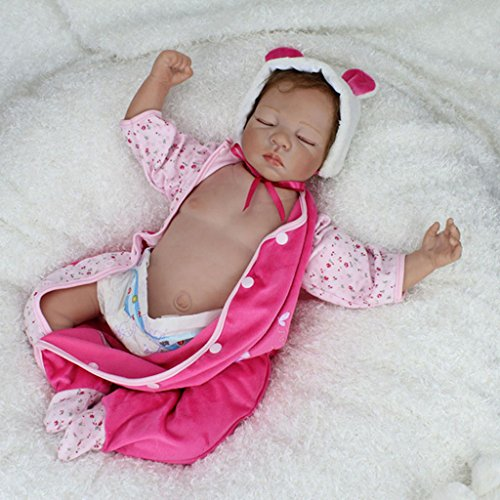 Terabithia 22 Pulgadas Rare Alive Coleccionable Dormir Reborn bebé muñecas Mirada Real con Vientre