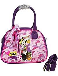 Disney Minnie and Daisy Woman Bag Shoulder Bag Handbag Bowling Barrel