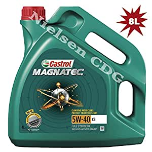 Castrol Magnatec 5W-40 C3 - Fully Synthetic Engine Oil A3/B4, 8L: 2x4L