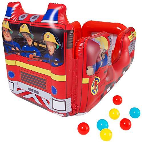 Unbekannt Feuerwehrmann Sam Aufblasbarer Laufstall Ball Pit Pool für drinnen und draußen mit Kleinkindern Spielzeug für Kinder, Mehrfarbig (Ball Kleinkinder Pit)