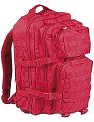 Mil-Tec US Assault - Mochila (36 L), color rojo