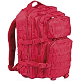 Mil-Tec US Assault - Mochila (36 L), color rojo
