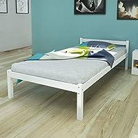 Cama 90x 200(madera maciza de pino blanco