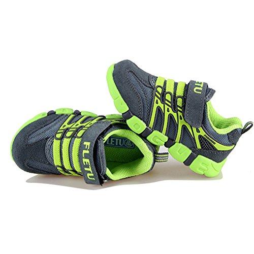 Sommer Kinder Turnschuhe Sport Atmungsaktive Mesh Schuhe Outdoor Freizeit Laufschuhe Rutschfest Straßen Sneaker für Jungen Mädchen Grün