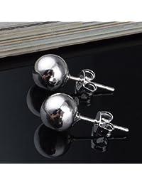 Skyllc® 925 plata esterlina pendientes de la manera Mujer perlas en forma de 8M