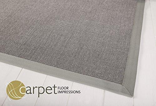 Sisal Küchen Teppich Mexico (040046 grau Bodüre grau MIT FLECKSCHUTZ,(11) 150X150 cm)