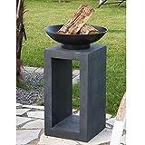 Design-Feuerschale mit Holzablage - 2