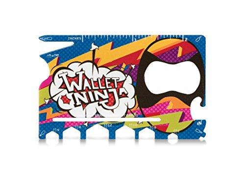 18-in-1-Multitool Wallet Ninja, Hipster-Design, limitierte Auflage, Mehrzweck-Werkzeug im Kreditkartenformat für die Hosentasche