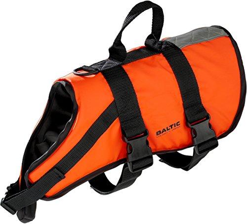 Baltic Schwimmhilfe für Haustiere, mit Klettverschluss und Gurt Orange orange Medium 8-15 Kg