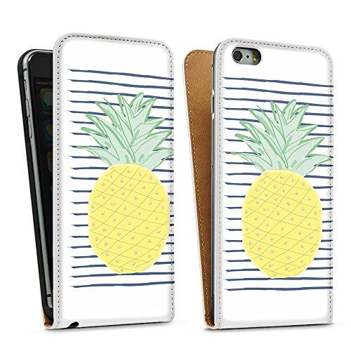 artboxONE Handyhülle iPhone 5/5S One Ananas - Rock the kitchen - Smartphone Case mit Kunstdruck hochwertiges Handycover kreatives Design Cover aus hartem Kunststoff von Michaela Merzenich Downflip Case weiß