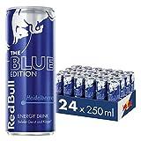 Red Bull Energy Drink Heidelbeere 24 x 250 ml OHNE Pfand Dosen Getränke, Blue Edition 24er Palette