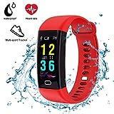 DIWUER Fitness Tracker Armbanduhr mit Plusmesser, Farbbildschirm, Wasserdicht (IP68), Inklusive Schrittzähler, Blutdruckmesser, Schlafüberwachung, für iOS Android Smartphone