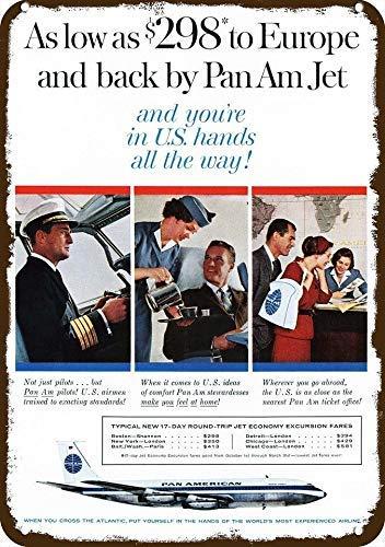 Jet Vintage Look Replica Metal Sign 8