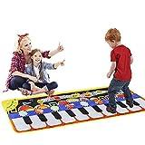 Queta Piano Matte, 19 Tasten Musik Tanzmatte Klaviermatte Musikmatte, 5 Modi & 8 Musikinstrument Spielzeug Touch Keyboard Musik Matte (110 * 36cm)