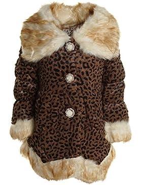 Kinder Mädchen Pelz Fell Jacke Stepp Sweat Winter Jacke 20459