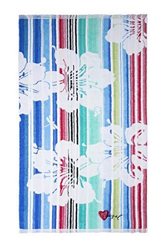 Desigual 61WL0A7 Jacquard Blue Summer Serviette de Bain Coton Turquesa 150 X 95 cm Taille Unique