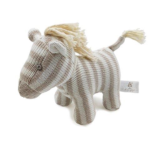 ter Spielzeug | sehr weiches Pferd Plüsch Spielzeug für Baby / Säugling / Kleinkind | Bio-Baumwolle stricken (Einfache Thanksgiving-handwerk Für Kleinkinder)