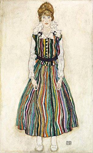 Das Museum Outlet–Egon Schiele–Die Künstler Frau, gespannte Leinwand Galerie verpackt. 40,6x 50,8cm