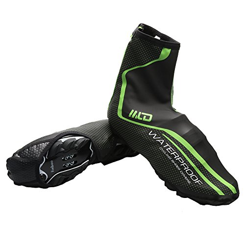 West Biking Bike Cycle Cycling Warm Shoe Covers Rain Waterproof Overshoes Protector Shoe Feet Cover M/L(Green Red)