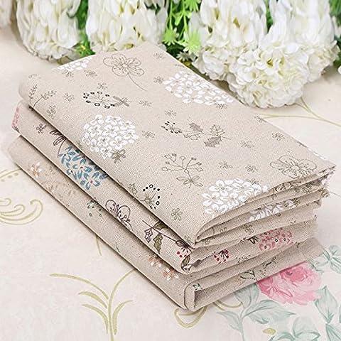 Diente de le—n de lino del algod—n remiendo de la tela para la cubierta de cama DIY Mantel