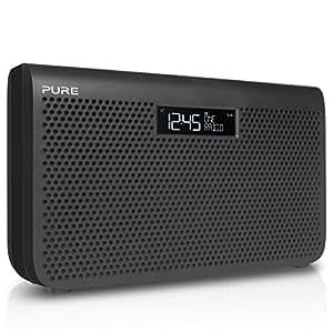 pure one maxi series 3 s3 dab digital fm portable radio with alarm clock graphite. Black Bedroom Furniture Sets. Home Design Ideas