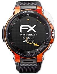 atFoliX Protector Película para Casio WSD-F30 Lámina Protectora de Pantalla, Revestimiento antirreflejos HD