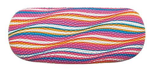 New York Eye Hartschalen-Brillenetui für Herren und Damen, mit bunten Wellen - mehrfarbig - Klein/Mittel