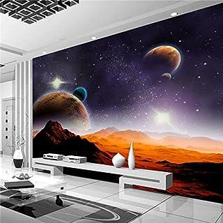 Große 3D Stereo Tapete Wandbild Planet Desert Landschaft Hintergrund Schlafzimmer TV Hintergrund Wand, XXL(13'6