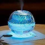 KOBWA Sternenhimmel LED Projektor Licht Luftbefeuchter Kristall 500ml USB Universum Nachtlicht Luftbefeuchter für Schlafzimmer
