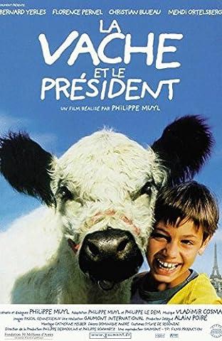La Vache Et Le Président - 116X158Cm Affiche Cinema Originale