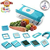 #10: BMS Accura Madind Premium Nicer vegetables and fruits Slicer Chippers and chopper, 1 Piece, Sky Blue