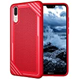 Huawei P20 Shell,Red Back Shell Cover, Codream New Cool Durable Durable Anti-Scratch Protection Case Compatible With Huawei P20