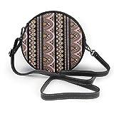 Bohemian Desert Blooms Black & Rose Colonne pollici rotonda a tracolla borse moda Circle Crossbody borsetta pochette