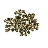 #4: Phenovo 100pcs Craft Crimp Knot Cover Bead DIY Making Jewelry Findings Gun Black