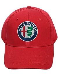 Cappello con Visiera Rosso Logo Alfa Romeo Mito Stelvio Giulietta Team  Italia Racing Corse Auto Moto 78ba917b238f
