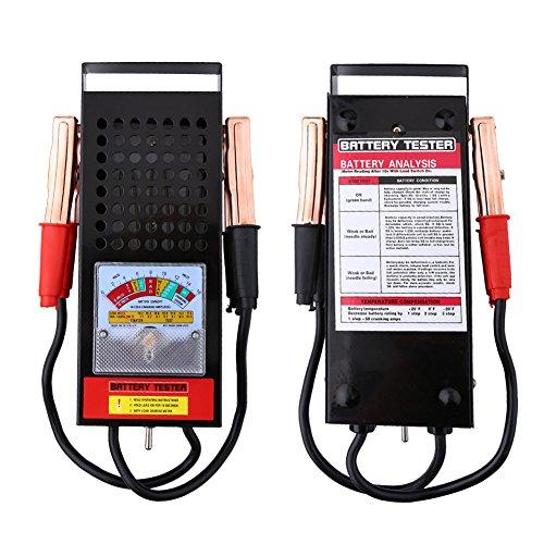 Tester Batterie per Auto, in Acciaio Inossidabile Verificare la Batteria 6V-12V Una Portatile Macchina Circa 1200 Grammi