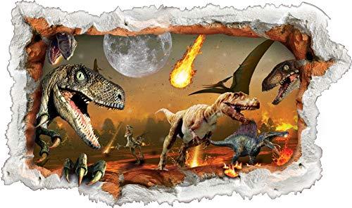 Dinosaurier Wandtattoo Aufkleber Kreative 3D für Kinder Schlafzimmer Wohnzimmer-Wand-Papier Aufkleber Großer 71x41cm WDino1 -