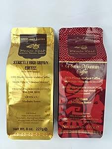 Mexico Real Cafe : Elisir Maya e Montagna Pluma | Caffè Espresso | Caffè Macinato | Caffè Arabica 100% | Caffè di Specialità | 454g. (2 X 227g.) – 2 Pacchetti | Caffè dalle Terre Alte 1400 , 1600 mslm della Foresta Maya e Montagna Pluma | Caffè Monorigine Messico | Tostato Artigianalmente | Delizioso Equilibrio tra Acidità e Dolcezza | Gusto Cioccolato e Frutti Rossi | Aroma Intenso, Corpo Pieno ed Avvolgente | Caffè Premiato per Gusto e Qualità Eccelente