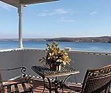 greemotion Balkonschutz aus hochwertigem Polyethylen, Sichtschutz mit den Maßen 600 x 90 x 1 cm,...