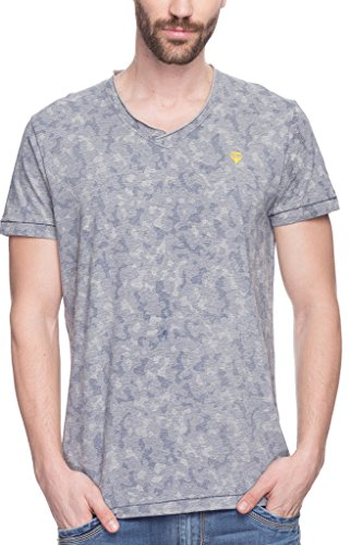 Spykar Mens Grey Melange Slim Fit Mid Rise Tshirts (X-Large)