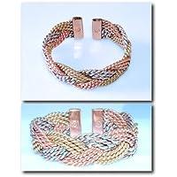 Magnetischer 3 farben Messing/Kupfer/Aluminium Schwer geflochtene-'Gewebter' design-armband 49M - Delikat Hand-in... preisvergleich bei billige-tabletten.eu