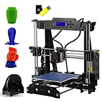 OUTAD 3D Printer Half Assembled DIY Kit with High Precision Extrusion 8GB SD Card LCD Screen Support ABS/PLA/HIP/PP/Wood Filament (P802M)