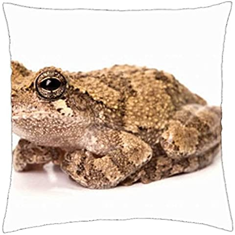 GRAY TREE FROG - Throw Pillow Cover Case (18