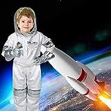 Luerme Disfraz de astronauta de Halloween para niños Disfraz de juego de rol para niños Niños niñas con guantes de casco