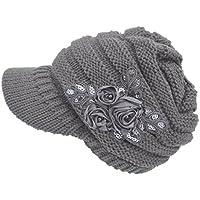 Culater® Con Fiore accento cavo Cappello di lana Visiera delle donne