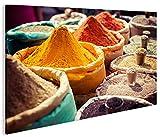 islandburner Bild Bilder auf Leinwand Gewürze V2 Küche Orientalische 1p XXL Poster Leinwandbild Wandbild Dekoartikel Wohnzimmer Marke